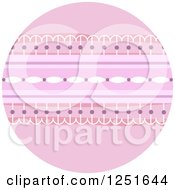 Clipart Of A Round Shappy Chic Lace Icon Royalty Free Vector Illustration