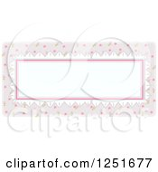 Clipart Of A Shappy Chick Oval Rectangular Frame Royalty Free Vector Illustration