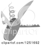 Clipart Of A Camping Multi Tool Royalty Free Vector Illustration