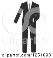 Clipart Of A Black Tuxedo Suit Royalty Free Vector Illustration