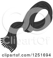 Clipart Of A Mans Black Shawl Royalty Free Vector Illustration