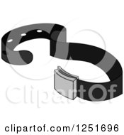 Clipart Of A Mens Belt Royalty Free Vector Illustration by BNP Design Studio