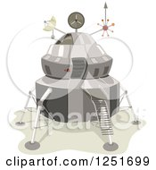 Clipart Of A Lunar Space Lander Royalty Free Vector Illustration