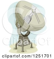 Clipart Of A Radio Telescope Royalty Free Vector Illustration