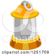 Clipart Of A Camping Lantern Royalty Free Vector Illustration