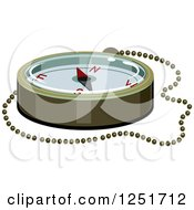 Clipart Of A Compass Royalty Free Vector Illustration by BNP Design Studio