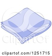 Clipart Of A Hankerchief Royalty Free Vector Illustration