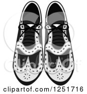 Clipart Of Mens Dress Shoes Royalty Free Vector Illustration