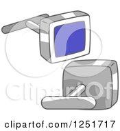 Clipart Of Cufflinks Royalty Free Vector Illustration
