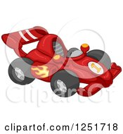 Clipart Of A Red Race Car Royalty Free Vector Illustration by BNP Design Studio