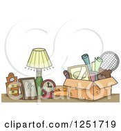 Clipart Of Items Ready To Be Donated Royalty Free Vector Illustration