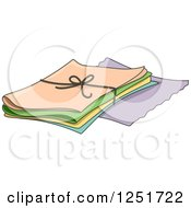 Clipart Of Sheets Of Fabric Royalty Free Vector Illustration