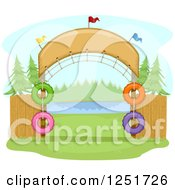 Clipart Of An Arched Entrance To A Campground Royalty Free Vector Illustration by BNP Design Studio