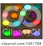 Clipart Of Colorful Stained Glass Speech And Thought Bubbles Royalty Free Illustration