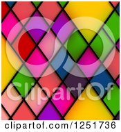 Clipart Of A Background Of Colorful Stained Glass Diamonds Royalty Free Illustration by Prawny