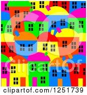 Bright Colored Village Background