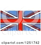 Clipart Of A Stained Glass Union Jack Flag Royalty Free Illustration by Prawny