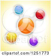 Clipart Of A Colorful Metaball Bubble On Yellow Royalty Free Vector Illustration by elaineitalia