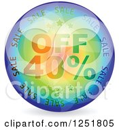 Reflective 40 Percent Off Icon