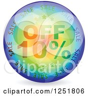 Reflective 10 Percent Off Icon