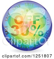 Reflective 30 Percent Off Icon