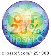 Reflective 20 Percent Off Icon