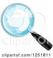Magnifing Glass With Antarctica