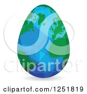 Clipart of a Reflective Earth Egg - Royalty Free Vector Illustration by Andrei Marincas #COLLC1251819-0167