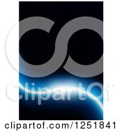 Clipart Of A Black Background With A Blue Light Royalty Free Vector Illustration