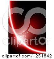 Clipart Of A Black Background With A Red Light Royalty Free Vector Illustration