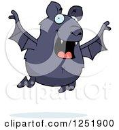 Happy Vampire Bat Flying