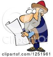 Clipart Of A Cartoon Johannes Gutenberg Royalty Free Vector Illustration