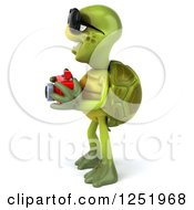 Clipart Of A 3d Tortoise Wearing Sunglasses And Taking Pictures With A Camera 5 Royalty Free Illustration