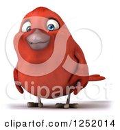 3d Happy Red Bird