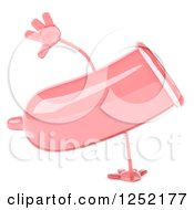 Clipart Of A 3d Pink Condom Character Cartwheeling Royalty Free Illustration by Julos