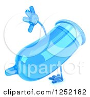 Clipart Of A 3d Blue Condom Character Cartwheeling Royalty Free Illustration by Julos