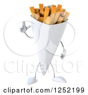 Clipart Of A 3d French Fries Character With An Idea Royalty Free Illustration by Julos