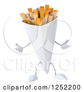 Clipart Of A 3d French Fries Character Shrugging Royalty Free Illustration by Julos