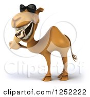 Clipart Of A 3d Camel Wearing Sunglasses And Eating An Ice Cream Cone Royalty Free Illustration