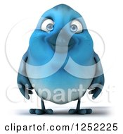 Clipart Of A 3d Blue Bird Royalty Free Illustration by Julos
