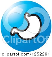 Clipart Of A Blue Stomach Icon Royalty Free Vector Illustration