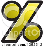 Clipart Of A Gold Percent Symbol Royalty Free Vector Illustration