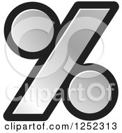 Clipart Of A Silver Percent Symbol Royalty Free Vector Illustration