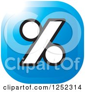 Clipart Of A Blue Percent Icon Royalty Free Vector Illustration