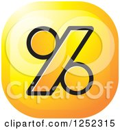Clipart Of A Yellow Percent Icon Royalty Free Vector Illustration