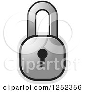 Clipart Of A Silver Locked Padlock Royalty Free Vector Illustration by Lal Perera