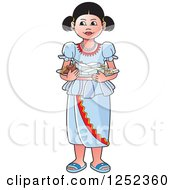 Clipart Of A Girl With Sinhala Sweets Royalty Free Vector Illustration by Lal Perera