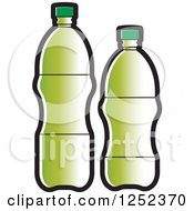Clipart Of Green Water Bottles Royalty Free Vector Illustration by Lal Perera