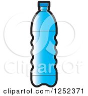 Clipart Of A Blue Water Bottle Royalty Free Vector Illustration by Lal Perera