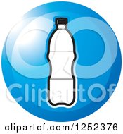 Clipart Of A Round Blue Water Bottle Icon Royalty Free Vector Illustration by Lal Perera